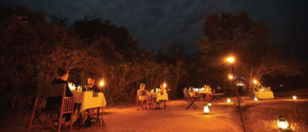 Big Game safari camps dining experience