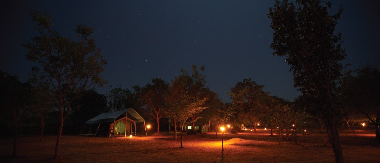 Big Game camps dinner setup at Yala national park Sri Lanka