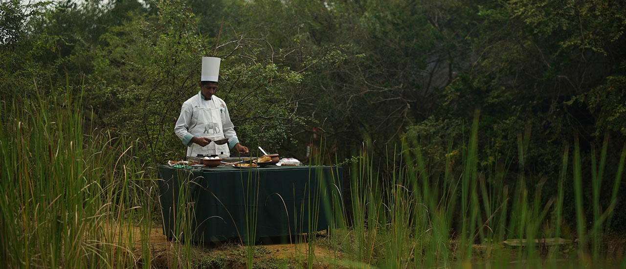 Yala safari camping, breakfast time