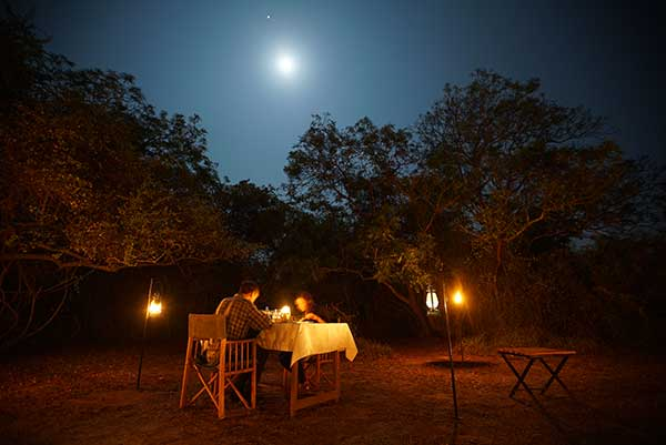big game camps dining experience at yala campsite