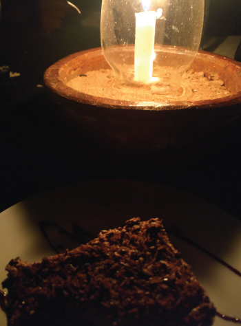 candle and cake at big game camps sri lanka